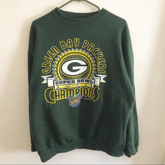 0d5a9078 Tultex Shirts | Vintage Green Bay Packers Super Bowl Sweatshirt ...